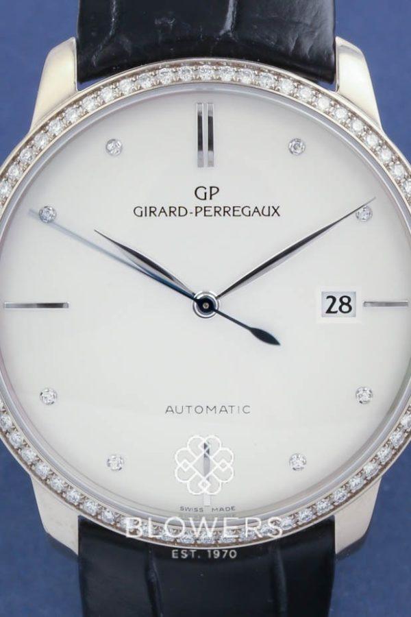 18ct white gold Girard Perregaux 1966