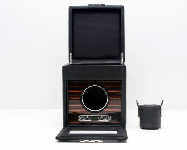Wolf Roadster Watch Winder with Storage in Black