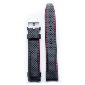 Everest black & red leather racing strap (EH8)