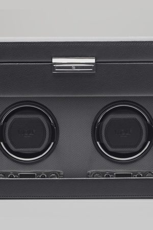 Wolf Viceroy Double Watch Winder with Storage in Black