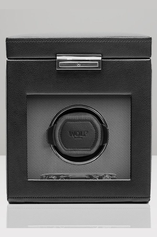 Wolf Viceroy Watch Winder with Storage in Black