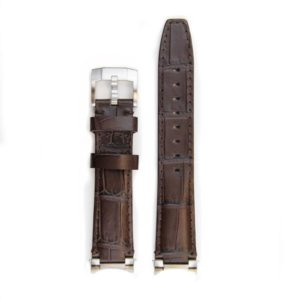 Steel End Alligator Strap - Brown