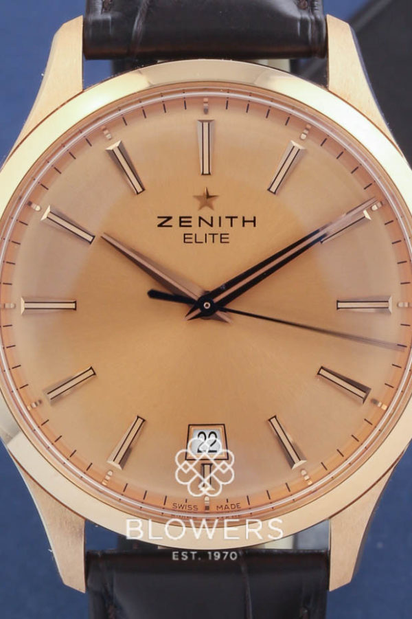 18ct Rose Gold Zenith Captain central Second 18.2020.670