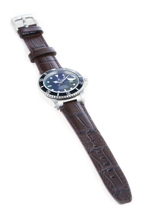 Everest Brown Alligator Leather Strap