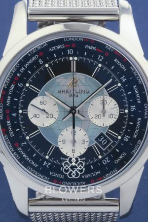 Breitling Steel Transocean Unitime Chronograph AB0510