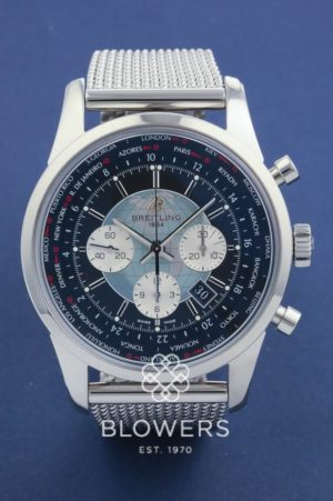 Breitling Steel Transocean Unitime Chronograph AB0510