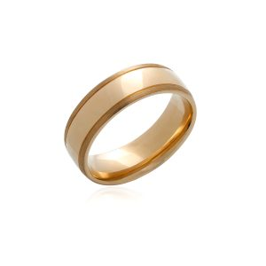 9ct Yellow gold gents wedding band.