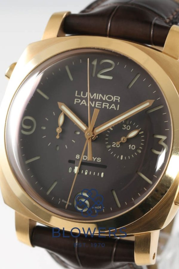 Panerai Luminor 1950 Rattrapante 8 Days Oro Rosa 18ct Rose Gold PAM00319