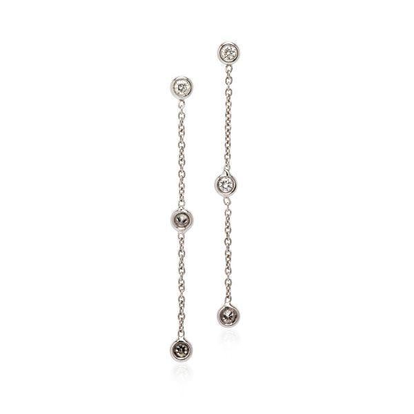 18ct white gold diamond drop earrings.