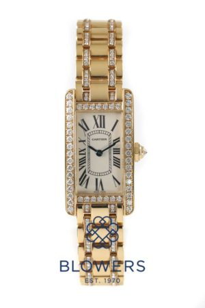 Ladies 18ct Cartier Tank Americaine
