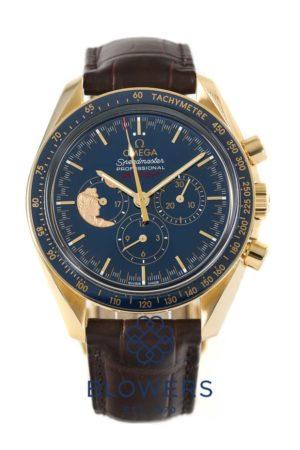 18ct Yellow Gold Omega Speedmaster Moon Watch 311.63.42.30.03.001