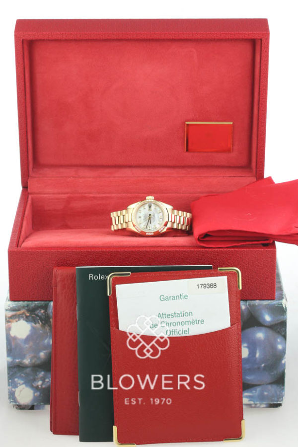 18ct yellow gold Rolex Oyster Perpetual Lady-Datejust model 179368