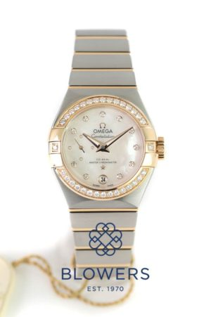 Omega Ladies Constellation Petite Seconde 127.25.27.20.55.001