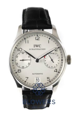 Platinum IWC Portuguese Automatic 7 day IW5001-04.